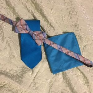 Other - Men's tie and bow tie bundle, w/ pocket square